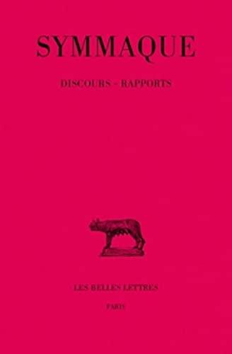 Symmaque, Discours (Paperback): Jean-Pierre Callu
