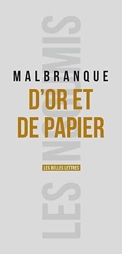 D OR ET DE PAPIER: MALBRANQUE BENOIT