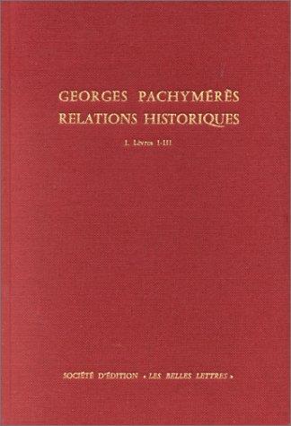 9782251322308: Relations historiques, tome 1, livres I-III