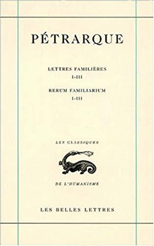 9782251344577: Lettres famili�res, tome I, Livres I-III