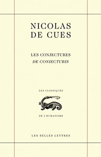 9782251345000: Les conjectures / de coniecturis (Les Classiques de l'humanisme)