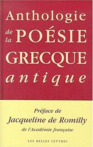 9782251441757: Anthologie de la poésie grecque antique