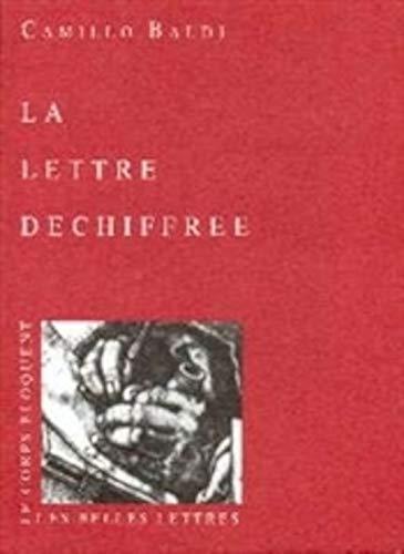 La Lettre déchiffrée (2251460055) by Camillo Baldi; Alessandro Fontana; Anne-Marie Debet