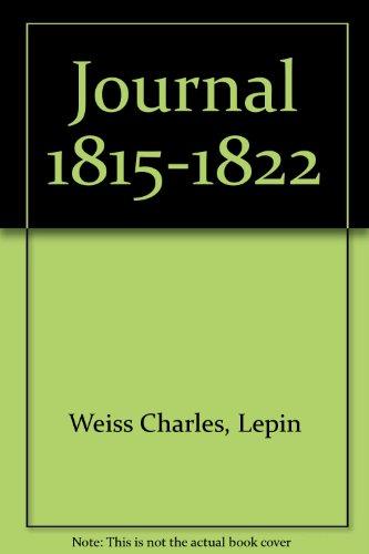 Journal 1815-1822: Charles Weiss; Suzanne