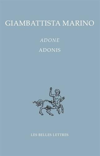 9782251730400: Adone / Adonis (Bibliotheque Italienne) (French Edition)