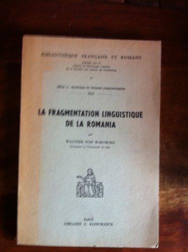 9782252002209: La fragmentation linguistique de la Romania, 1967