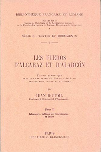 9782252002322: Fueros d'Alcaraz et d'Alarcon Bfr B6 (French Edition)
