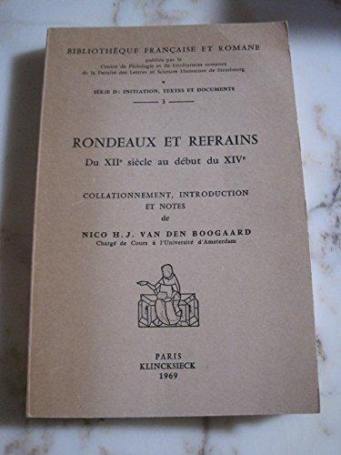 9782252009581: Rondeaux et refrains franc. du 12 s. bfr d3