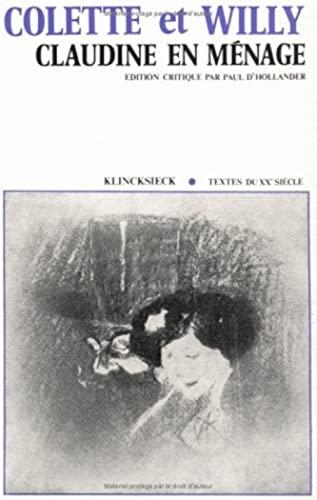 9782252016541: Claudine en ménage (Hors Collection Klincksieck) (French Edition)