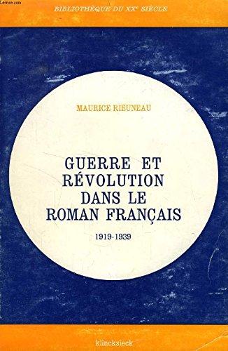 9782252016879: Guerre et revolution dans le roman