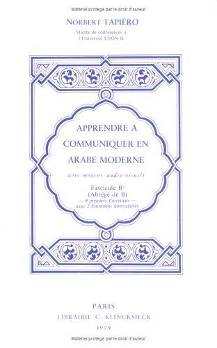 9782252021583: Apprendre à communiquer en arabe moderne