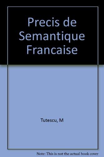 9782252021637: Précis de sémantique française (Études linguistiques) (French Edition)