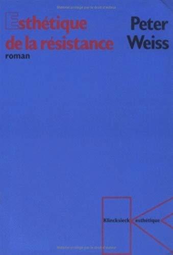 9782252026618: L'esthétique de la résistance (roman): Tome 1 (Collection D'Esthetique) (French Edition)