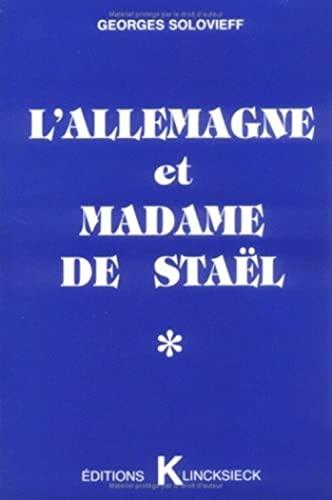 9782252027080: L'Allemagne et madame de stael / en marge d'un evenement
