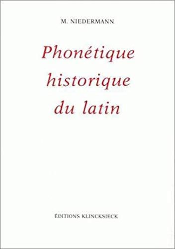 9782252027745: Phon�tique historique du latin 1985