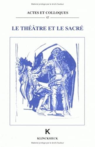 9782252030752: Le Théâtre et le sacré