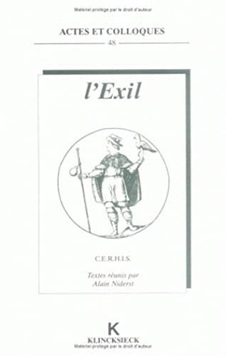 9782252031131: L'Exil (Actes Et Colloques) (French Edition)