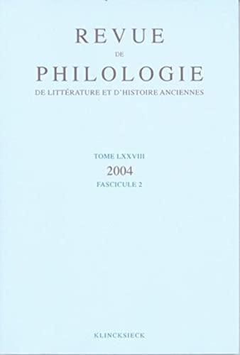 Revue de philologie, de littérature et d'histoire: Jean-Paul Thuillier; Cécile