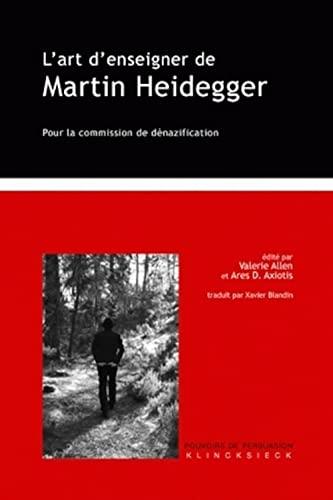 9782252036396: L'art d'enseigner de Martin Heidegger