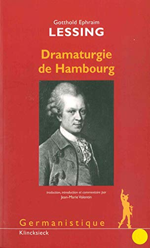 9782252036914: Dramaturgie de Hambourg (Germanistique) (French Edition)