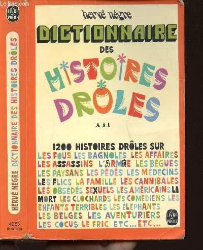 9782253003793: DICTIONNAIRE DES HISTOIRES DROLES (Le Livre de Poche)