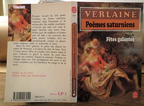 9782253006251: Poemes Saturniens Fetes Galantes (French Edition)