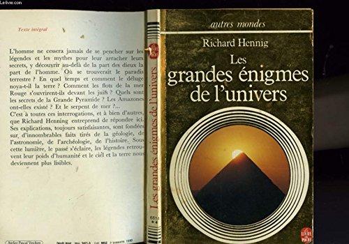 LES GRANDES ENIGMES DE L'UNIVERS: HENNIG R.