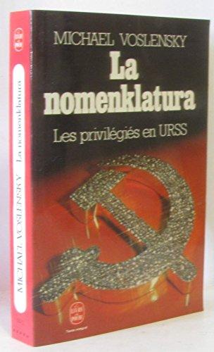 9782253028086: La nomenklatura : les privilegies en u.r.s.s.