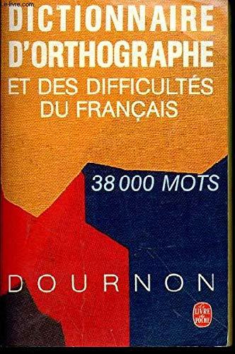 9782253028857: Dictionnaire d'orthographe et des difficultés du français