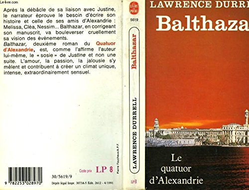 Le Quatuor d'Alexandrie, tome 2: Balthazar (2253028975) by Lawrence Durrell