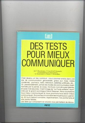 9782253032335: Des Tests pour mieux communiquer