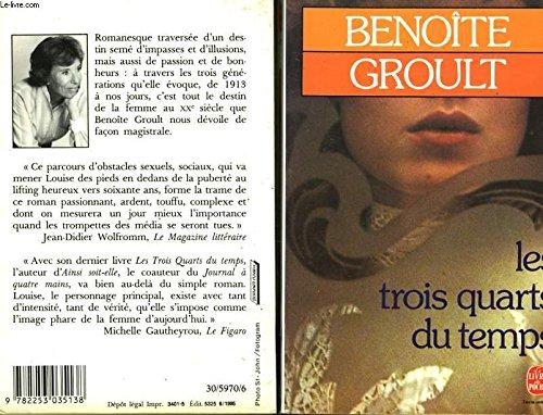 9782253035138: Les Trois Quarts Du Temps (French Edition)