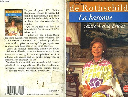 La Baronne Rentre a Cinq Heures (French Edition): Rothschild