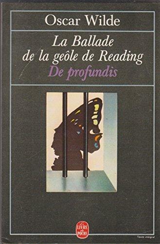 9782253046974: La Ballade de la geôle de Reading suivi de De Profundis