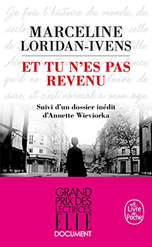 9782253095064: Et Tu N'es Pas Revenu (French Edition)