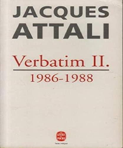 9782253141068: Verbatim 2 1986-1988