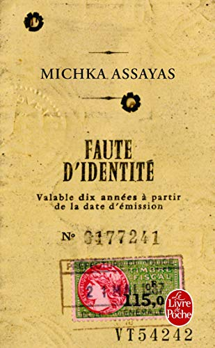 9782253164425: Faute D'Identite (Litterature & Documents) (French Edition)