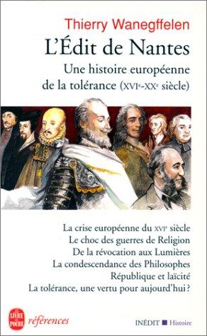 9782253904540: L Edit de Nantes Une Hist. Europ. de La Toler (Ldp References) (French Edition)