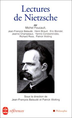 9782253905776: Lectures de Nietzsche (Le Livre de Poche) (French Edition)