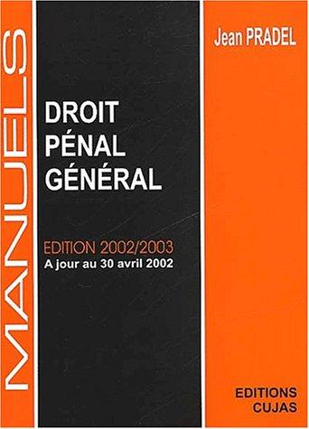 9782254024148: Manuel de droit penal general (14e ed.)