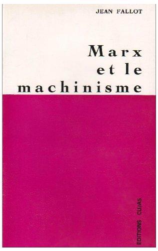 9782254669219: Marx et le machinisme
