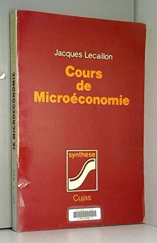 9782254817030: Cours de microéconomie