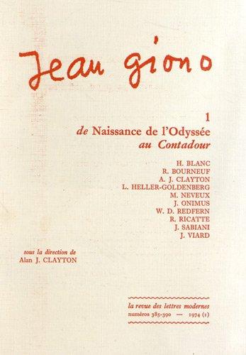 De Naissance de l'Odyssee au Contadour (Jean: Alan J Clayton