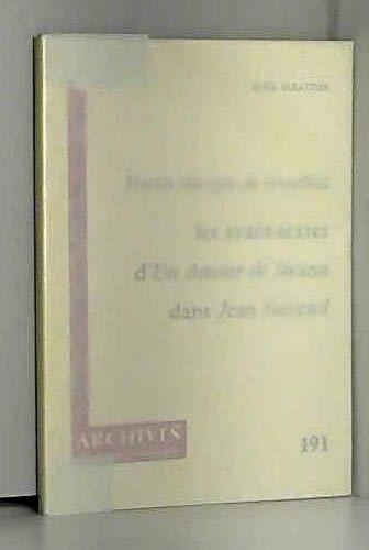 Proust disciple de Stendhal: Les avant-textes dUn: Alma Saraydar