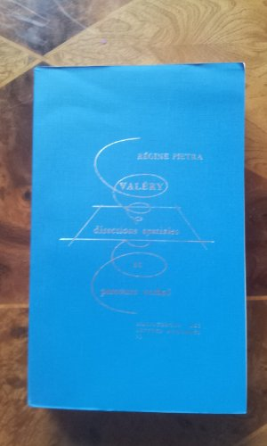 Valery: Directions spatiales et parcours verbal (Bibliotheque des lettres modernes) (French Edition...