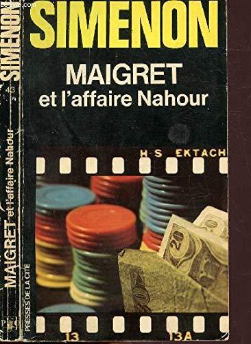 9782258003057: Maigret et l'affaire Nahour