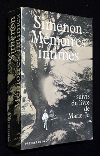 9782258009547: Memoires intimes: suivis du livre de Marie-jo (French Edition)