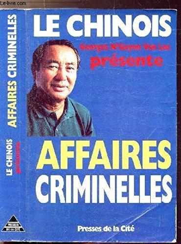 9782258040373: Affaires criminelles