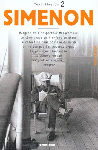 9782258060432: Tout Simenon 2: Maigret ET L'Inspecteur Malgracieux Etc