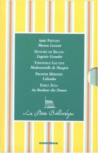 9782258068308: La Petite Bibliothèque Coffret 5 volumes : Manon Lescaut ; Eugénie Grandet ; Mademoiselle de Maupin ; Colomba ; Au Bonheur des Dames